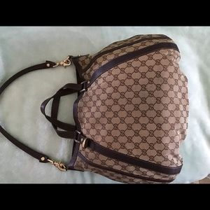 Gucci Abbey large canvas hobo bag